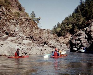 Whitewater kayak trip on Rogue River with Current Adventures Kayak School and Trips