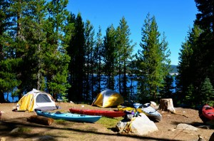 Loon Lake kayak camping trips