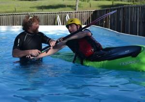 Kayak rolling instruction with Dan Crandall