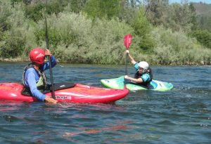 Whitewater kayak lessons